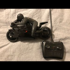 Black series remote controlled motorcycle